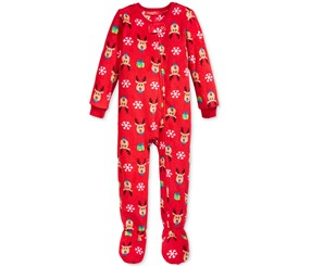 Family Pajamas Baby Rein Deer Print, Red
