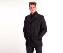Kenneth Cole Men's Double Breasted Jacket, Black