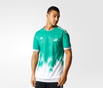 Adidas Tango Future Layered Jersey Men's Tee, Core Green/White