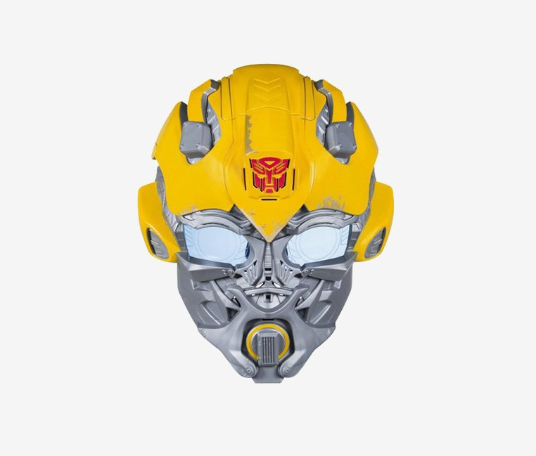 Bumblebee Voice Changer Mask, Yellow/Silver