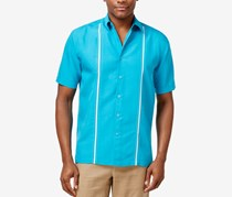 Cubavera Mens Contrast Stitch Short-Sleeves Shirt, Caribbean