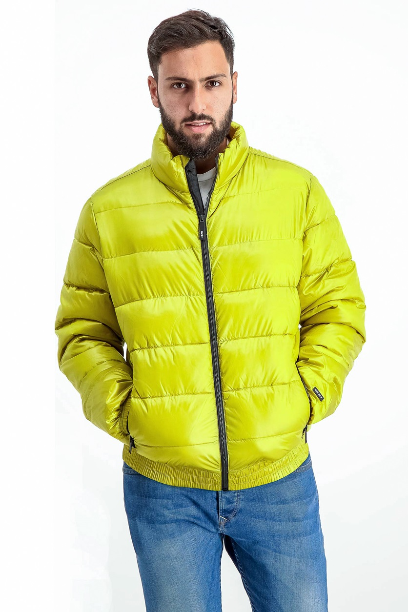 f03880dec Shop DKNY DKNY Mens Quilted Jacket, Yellow for Men Clothing in ...