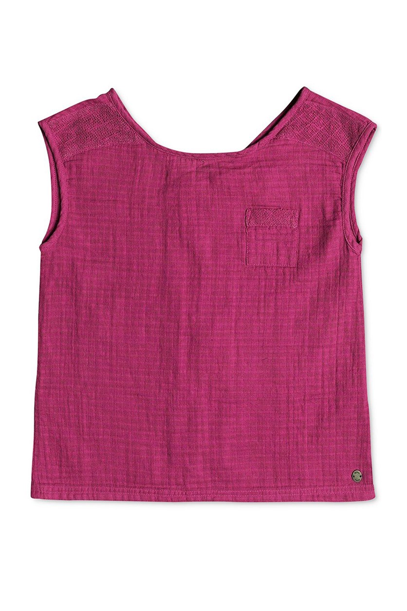 Big Girls Sleeveless Top, Magenta Haze