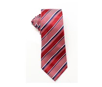 Countess Mara Mens Beacon Stripe Tie, Red