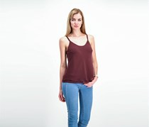 Plus Size Women's Paired Up Tank, Maroon
