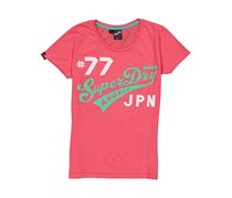 Superdry New Angel Duo-Entry Tee, Pink Combo