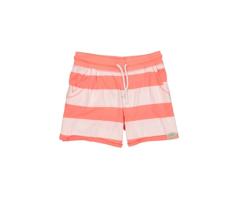 Women's Stripe Side Pocket Short, Coral