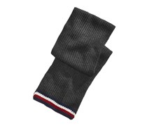 Tommy Hilfiger Global Stripe Rib Scarf, Dark Gray Combo