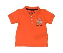 Guess Little Boys Embroidered Polo, Orange