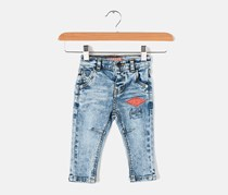 Guess Little Girls Graphic Printed Jeans, Blue