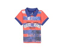 Guess Baby Boy Graphic Polo, Red/Blue Combo