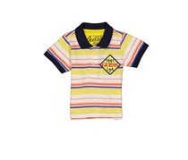 Guess Baby Boy Stripe Tops, Yellow Combo