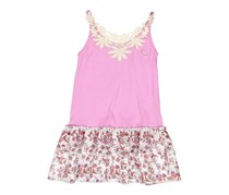 Guess Kids Girls Floral Dress, Lavender/White Combo