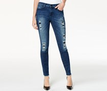 DKNY Jeans City Ripped Ultra Skinny Jeans, Ave Wash