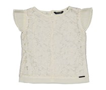 Guess Kids Girls Lace Top, Ivory