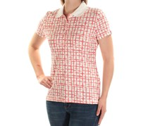 Tommy Hilfiger Printed Polo Shirt, Dusty Coral Combo