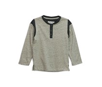 Sovereign Code Boys Long sleeve Henley Sweaters, Heather Oatmeal