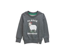 Toddlers Fleece Navidad Graphic Sweatshirt, Grey