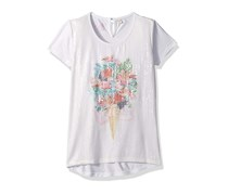 Guess Girls Sequin Details T-Shirt, White