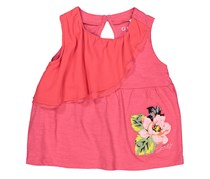 Guess Little Girls Embroidered Tops, Dark Pink Combo