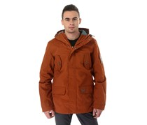 House Men's Hooded with Drawstring Jacket, Burnt Orange