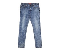 Guess Kids Girl Skinny Fit Jeans, Blue Washed