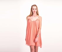 Elizabeth and James Malie Silk Dress, Peach