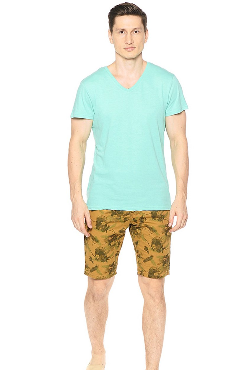 Mens Printed Short, Caramel