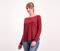 Cropp  Women Pocket Tee, Maroon