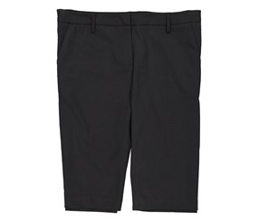 Larry Levine Women's Bermuda Short, Black