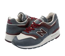 New Balance Mens  Horween Leather Lace-Up Shoes, Dark Grey/Maroon