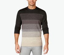 Tricots St Raphael Men's Colorblocked Crew-Neck Sweater, Charcoal Heather