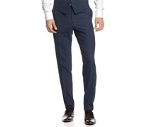 Bar III Men's Slim Fit Flat Front Dress Pants, Navy
