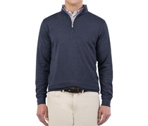 Peter Millar Men's Crown Comfort 1/4 Zip Sweater, Yankee Blue