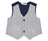 Guess Baby Boys Stripe Vest, Navy Combo