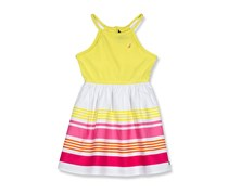 Nautica Girls Stripe Dress, Yellow Combo