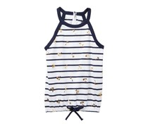 Nautica Stripe & Foil Palm Tree Print Tank Top, Navy/White