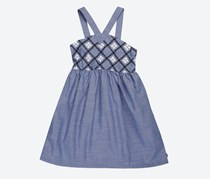 Nautica Big Girls Printed Challis Dress, Chambray