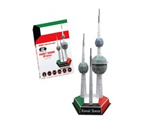 Power Joy 3D Puzzle Kuwait Towers, White/Green/Red