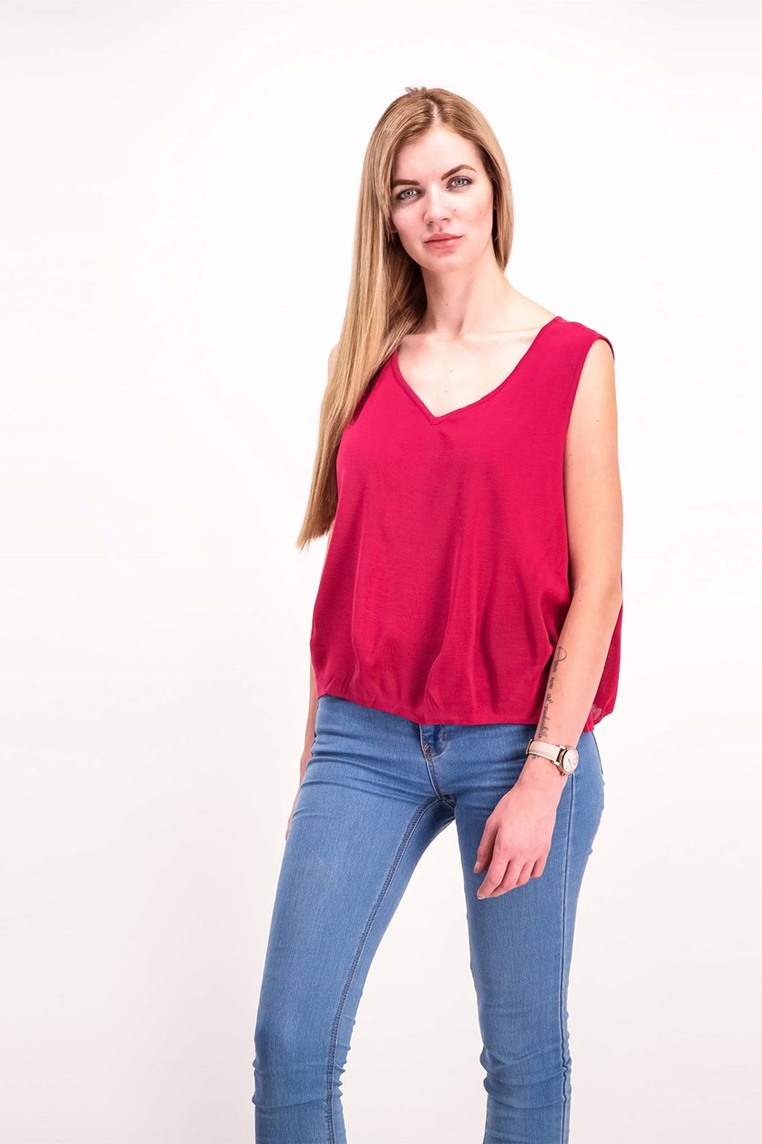 Women's Plain Sleeveless Top, Purple