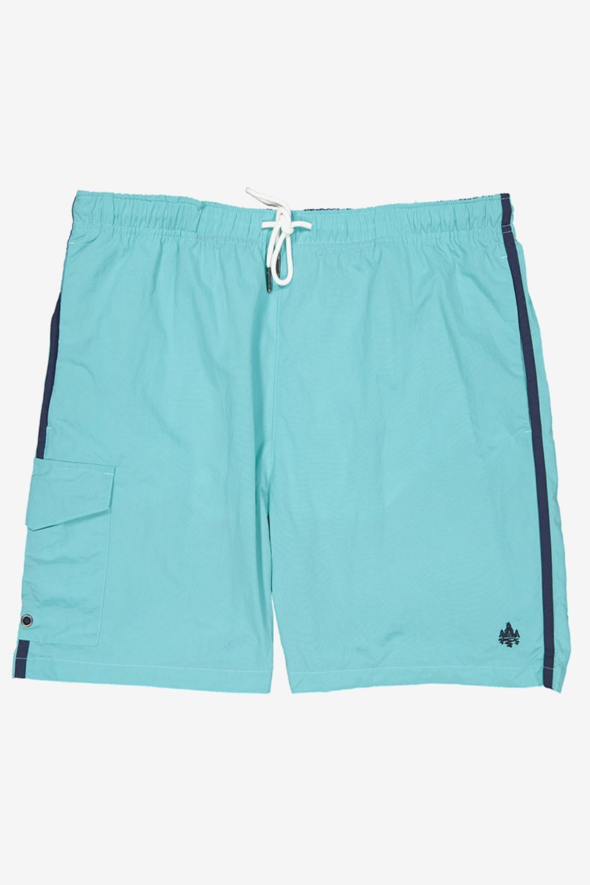 Men's Elastic Waist Side Pocket Short, Aqua