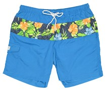 Rainforest Men's Spiced Floral Block Print Short, Blue