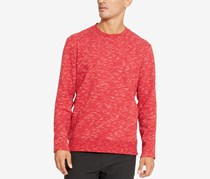 Kenneth Cole Men's Space Dye Pullover Sweater, Rio Red