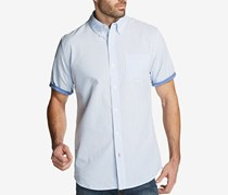Weatherproof Vintage Mens Seersucker Shirt, Stripe Pocket Blue