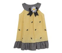 Rare Editions Gingham Seersucker Bee Dress, Yellow
