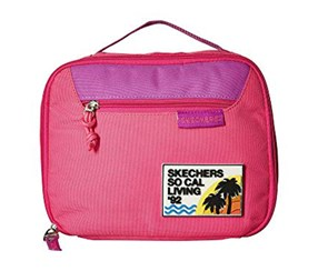 Skechers Girls Lunch Bag, Bright Pink