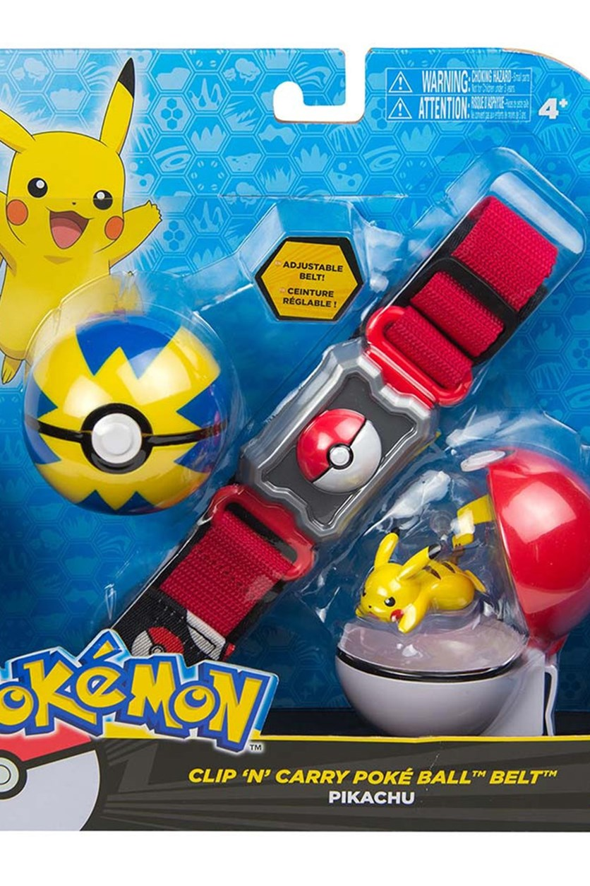 Clip N Carry Poke Ball Belt, Blue/Red