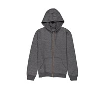 Tahari Men's Zipper Hoody Sweaters, Charcoal