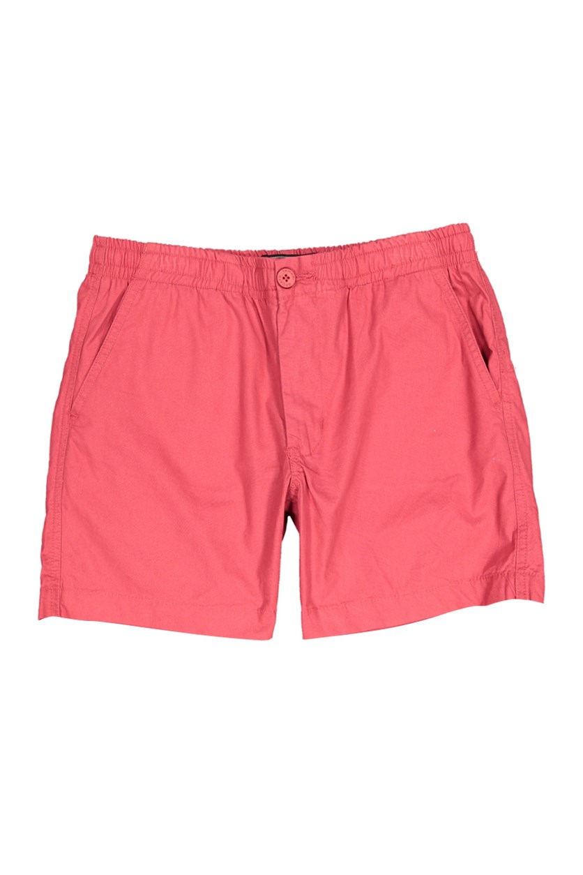 Men's Plain Shorts, Red