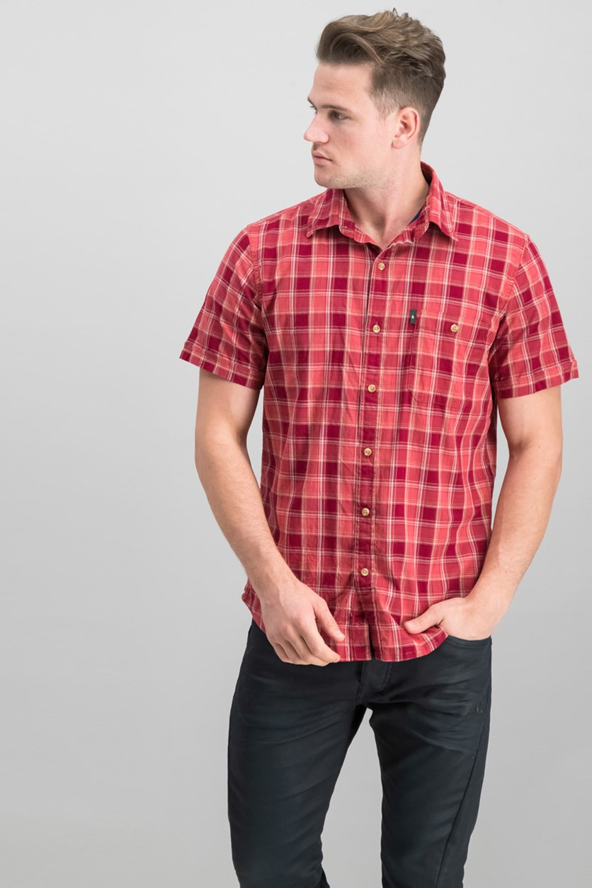 Men's Madawaska Plaid Shirt, Red